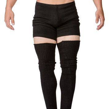 Men's Leg Warmers / Black Leg Warmers / Dancewear / Leggings