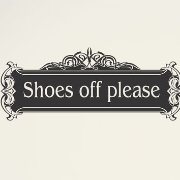 Shoes off please - wall decal