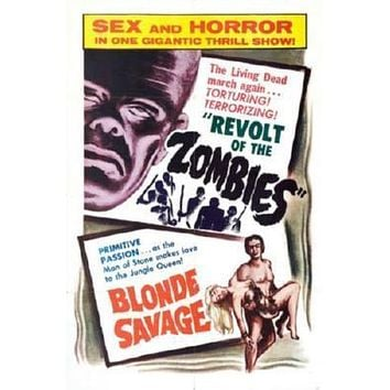 Revolt Of The Zombies poster Metal Sign Wall Art 8in x 12in
