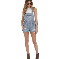 Denim Loosen Up Overalls