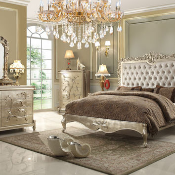 Homey Design HD-13005 Buttermilk Eastern King Bed Set