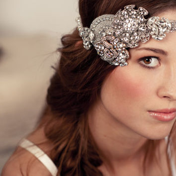 Bridal Crystal Rhinestone Halo Headband - As Seen On Oregon Bride Magazine's Website