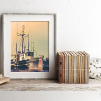 Nautical photograph, Boat Cottage decor, Fine Art photography, boat nursery picture, Nautical mancave decor, nautical nursery, boat photo