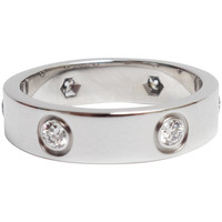 Cartier Diamond White Gold Love Band Ring
