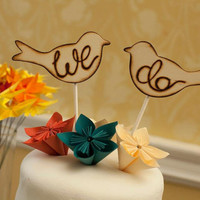 Wedding Cake Topper Love Birds by braggingbags on Etsy