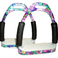 Saddles Tack Horse Supplies - ChickSaddlery.com Floral English Flexi-Stirrups <>