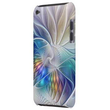 Floral Fantasy, abstract and modern Fractal Art Case-Mate iPod Touch Case