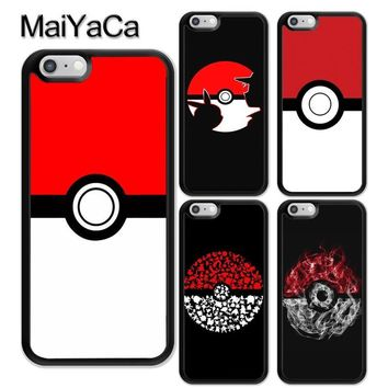 MaiYaCa Anime Pokeball s Printed Soft TPU Coque Skin Phone Case For iPhone 6 6S Plus 7 8 Plus X 5 5S SE Cases Back CoverKawaii Pokemon go  AT_89_9