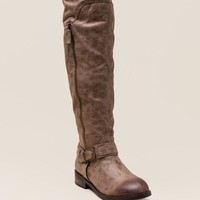 Restricted Paintbrush Distressed Over The Knee Boot