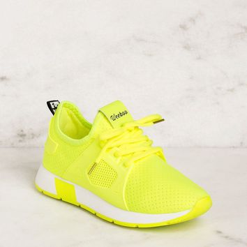 Running Circles Neon Lime Sneakers