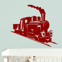 Wall Decal Vinyl Sticker Decor Art Bedroom Design Mural Nursery Kids Baby Train Thomas Choo Choo (z723)