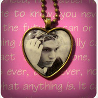 Evan Peters pendant necklace