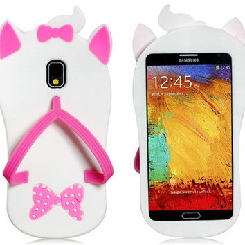 Slipper Shaped Silicone Case for Samsung Galaxy Note 3
