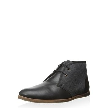 Ben Sherman Men's Dean Leather Chukka with Wool at MYHABIT