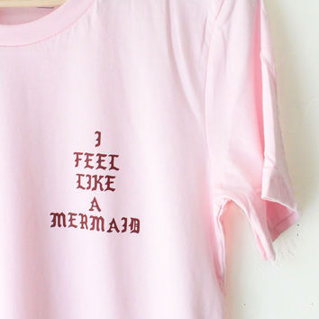 I Feel Like A Mermaid Tee - Pink