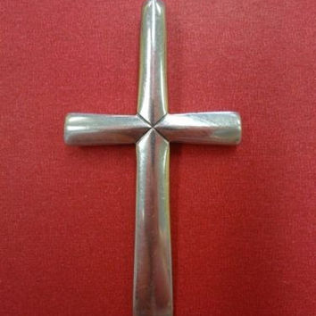 """Rare Retired James Avery Cross in Sterling Silver HTF Unknown Design 2 7/8"""" L"""