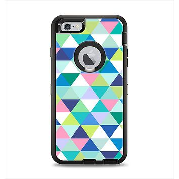 The Vibrant Fun Colored Triangular Pattern Apple iPhone 6 Plus Otterbox Defender Case Skin Set
