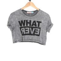 Whatever Tee in Black (Big Girl): Buy Vintage Havana Kids Clothing at MFredric.com