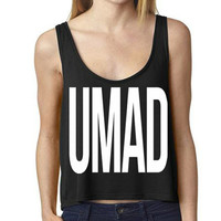 U MAD Crop Top Tank | Bella Crop Fitness Crossfit Exercise Work out Lifting Tank Top | Womens Crossfit