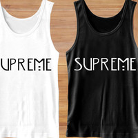 supreme american horror story Tank Top,  Clothing,  T shirt, Tank Top Girls, Tank Top Womens, Tank Top Mens, Screenn Print