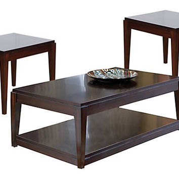 Lansing Cherry 3 Pc Table Set - Table Sets Dark Wood