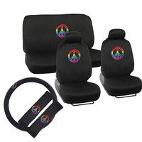 BDK Peace Design Car Seat Covers Full Set (Universal Fit) | Overstock.com Shopping - The Best Deals on Car Seat Covers