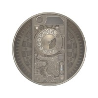 Steampunk Device - Rotary Dial Phone. Drink Coaster