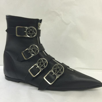 Original Pikes-Pentagram Buckle Boots
