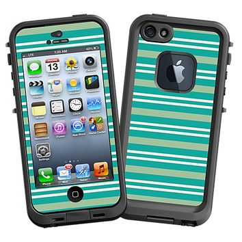 Striped Ocean Skin for the iPhone 5 Lifeproof Case by skinzy.com
