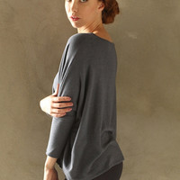Dino Everywhere Pullover in Smoke-One Size