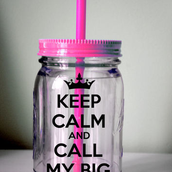 CUSTOMIZABLE Keep Calm Mason Jar / YOU Choose Color and Quote