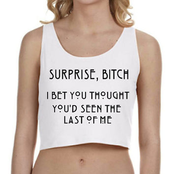 American Horror Story Surprise Crop Top Tank