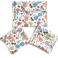 EcoFriendly Snack Bags, Set of 3 Reusable Snack Bags, Water Resistant Snack Bags