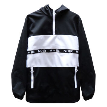 M+RC NOIR SOFTSHELL PANELED PULL-OVER JACKET