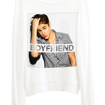 Justin Bieber Boyfriend Photo Print Slouchy Jumper