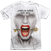 Short Sleeve Regular Fit T-Shirt - American Horror Story-Fear Face - Adult