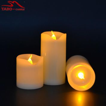 3pcs/lot Small Battery Operated LED Candle with Long Lasting Bright Light Flameless LED Candle Set with Hight Quality