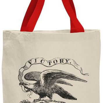 Austin Ink Apparel American Victory Eagle Contrast Cotton Canvas Tote Bag