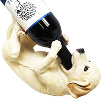 Kitchen Decor Labrador Retriever Dog Wine Bottle Holder Figurine Statue