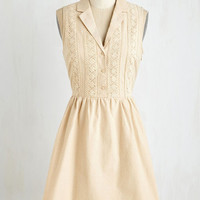 ModCloth Mid-length Sleeveless A-line Books and Biscotti Dress