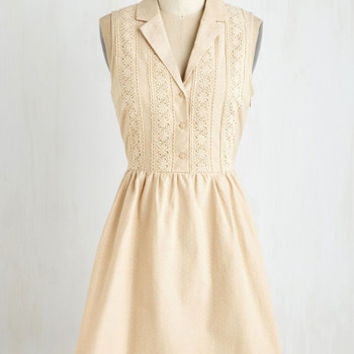 Mid-length Sleeveless A-line Books and Biscotti Dress