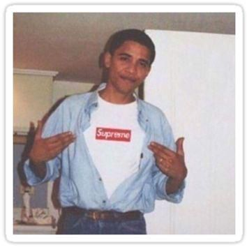 ¡®Obama Supreme¡¯ Sticker by yungguccinigga