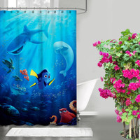 "New Design Cartoon Favorite Finding Dory Custom Shower Curtain 66"" x 72"""