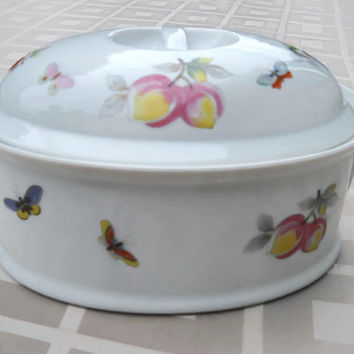 Vintage  Fruit Oven To Table Covered Casserole Cookware - Casserole Vintage Dish - Oven Cookware