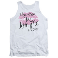 GOSSIP GIRL/YOU LOVE ME - ADULT TANK - WHITE - MD
