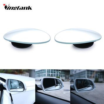 Vingtank 2pcs Clear Slim Car Rear View Blind Spot Mirror Glass Convex Wide Angle Lens Parking Mirror for SUV Auto Accessory