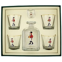 Snooty Fox Decanter Set with Old Fashioned Glasses by Richard E. Bishop
