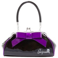 Sourpuss Super Floozy Handbag - Black Blue