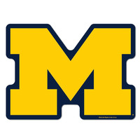 Michigan Wolverines NCAA Automotive Grille Logo on the GOGO