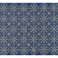Jude Outdoor Rug, Blue/Sand, Area Rugs